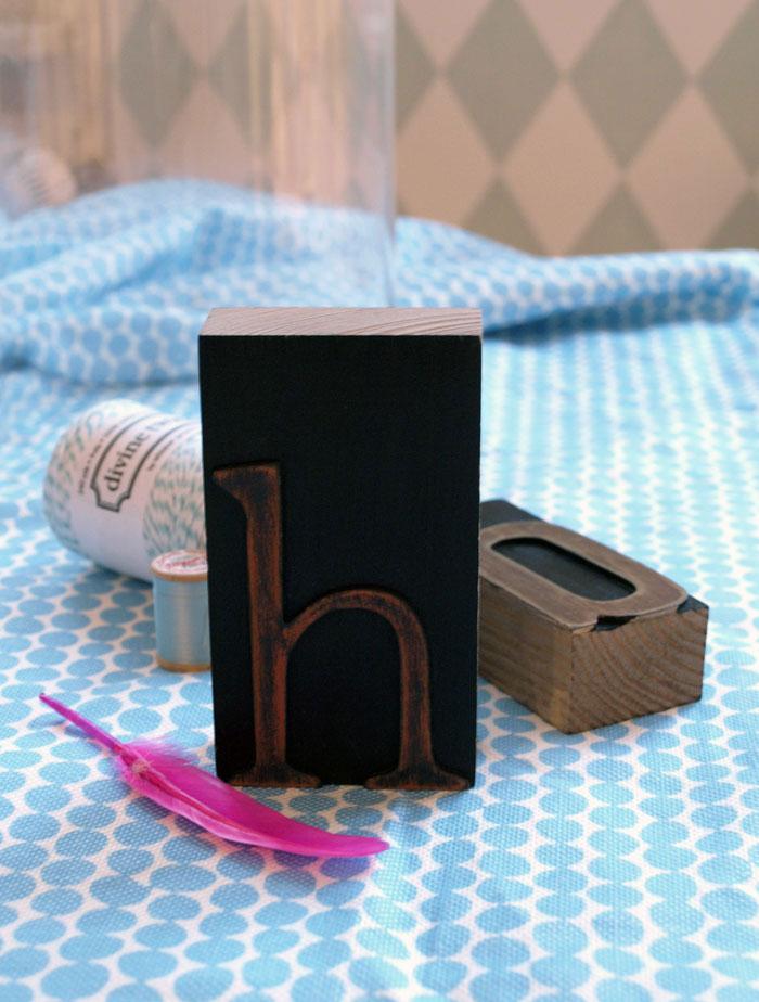 Styling-Spielereien mit Hollys Drucklettern und der Tapete im Hintergrund