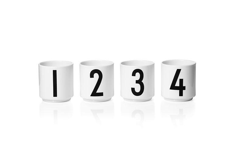 design letters espressobecher set 1 2 3 4 freundts. Black Bedroom Furniture Sets. Home Design Ideas