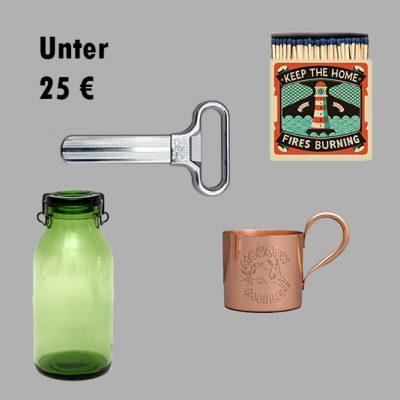 Unter 25 €